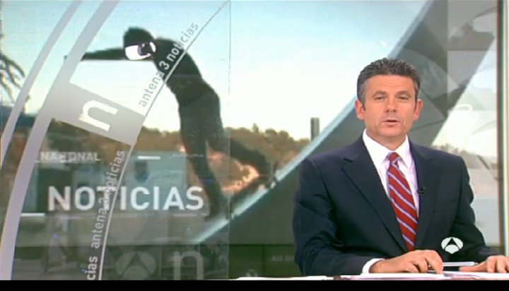 Antena 3 Tv Channel.Kilian Martin on news report.