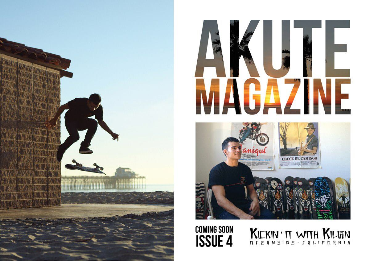 Front page and article for Akute Magazine.