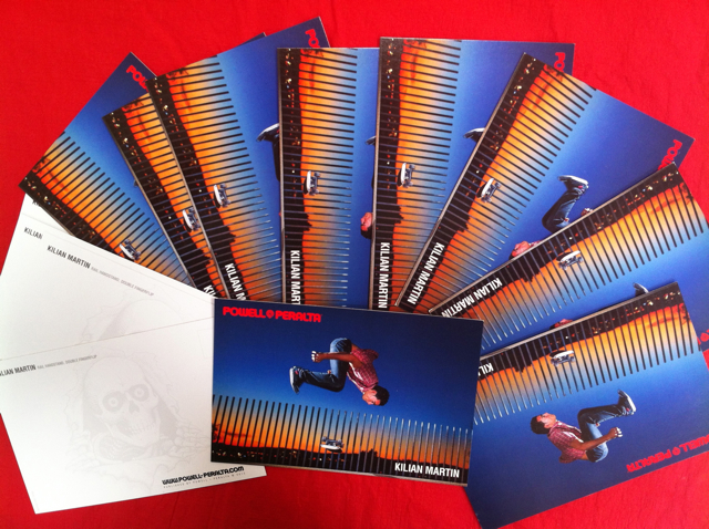 Newest Powell peralta's Kilian Martin postcards.