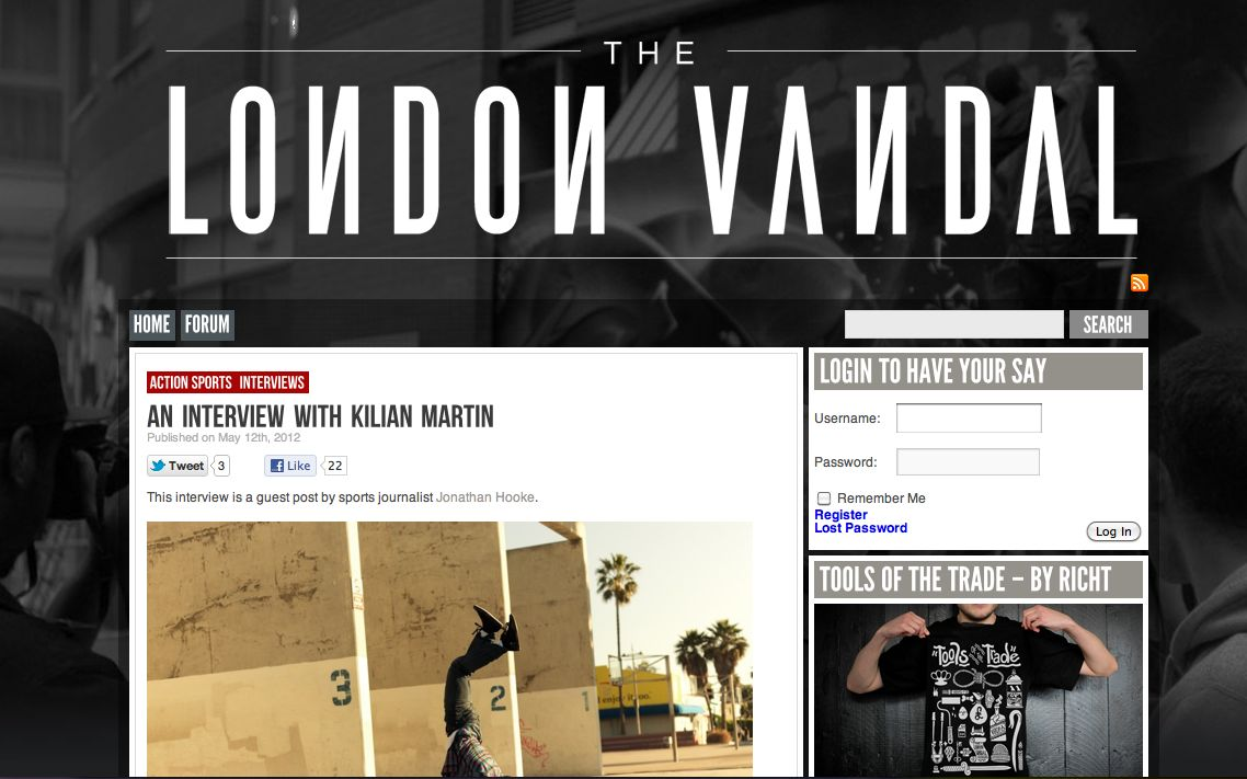 London Vandal – An interview with Kilian Martin.