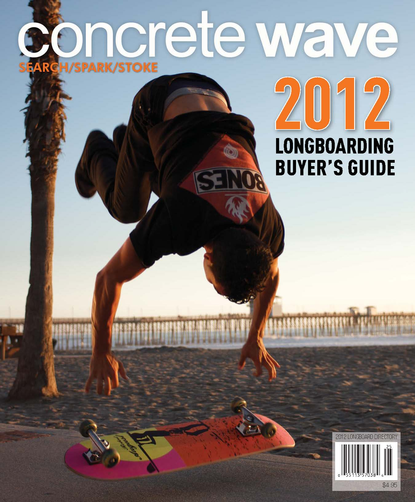 Kilian Martin on Concrete Wave's magazine cover.