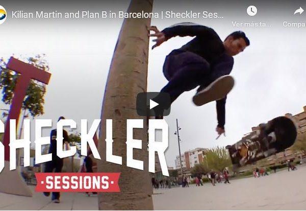 Kilian Martin skating Barcelona in Sheckler Sessions