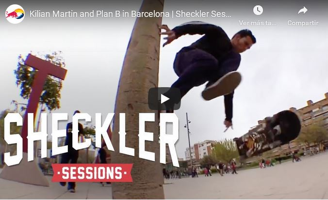 Kilian Martin skating Barcelona in Sheckler Sessions