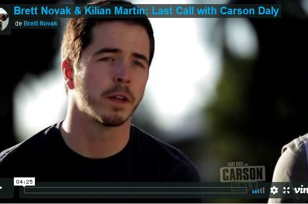 Kilian Martin «Last Call» on the Carson Daly TV Show.